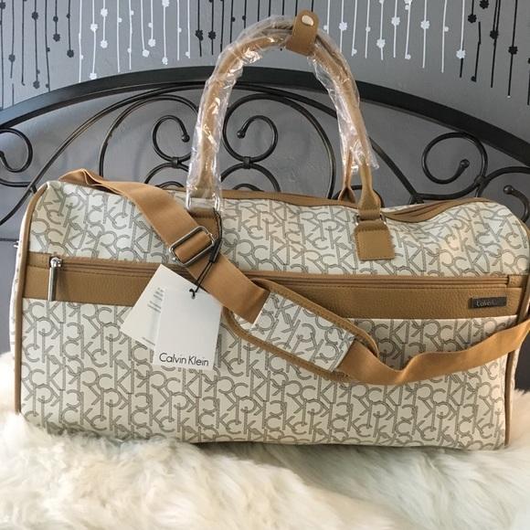 2de2f78335 Calvin Klein Bags | Ck Monogram Luggage Duffle Bag Travel | Poshmark